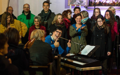 Singen mit Frank Wedel im Pop und Gospelchor