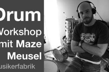 Matthias Meusel fördert Drummer in Hannover Musikerfabrik