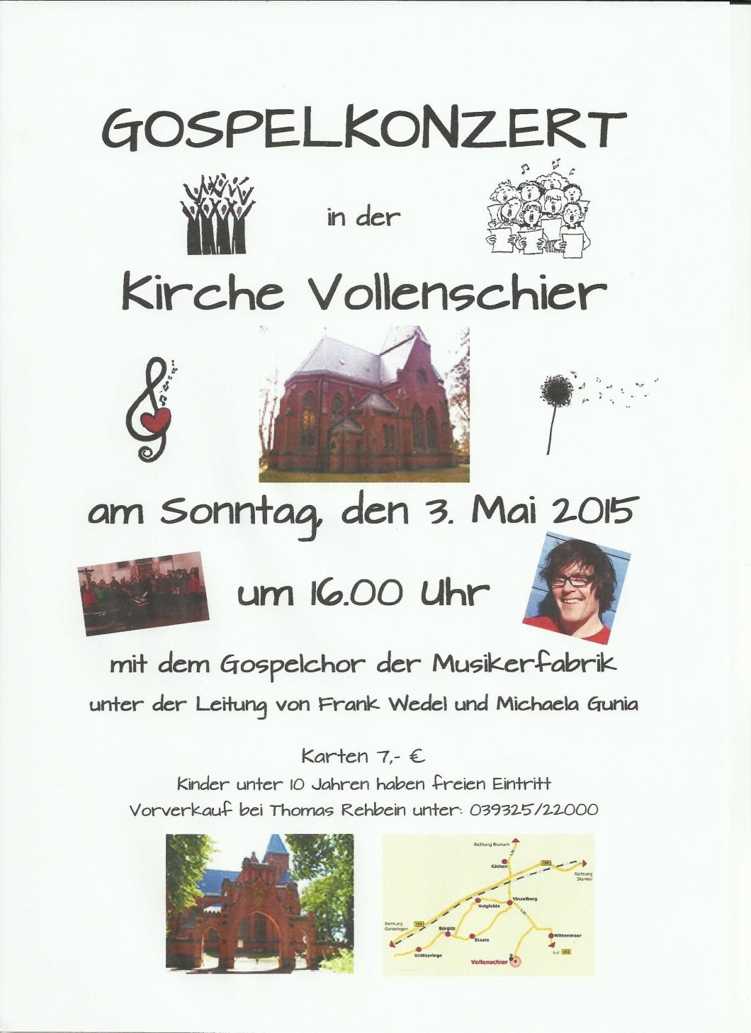 Konzertplakat Vollenschier