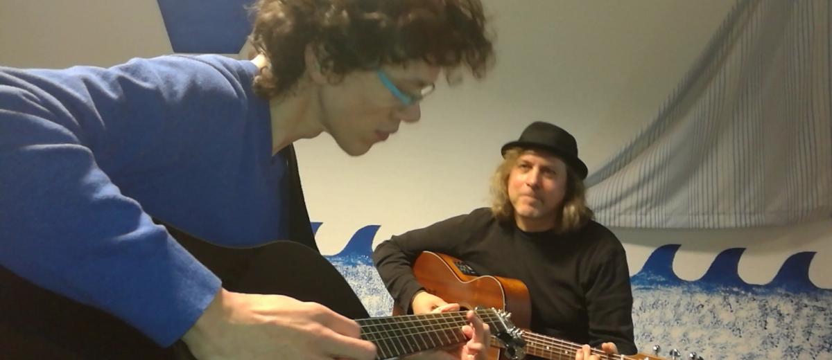 Hannes spielt Oh Susanna mit Frank Kroll